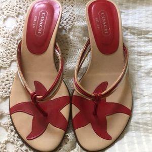 Coach slip on sandals size 7
